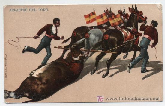 ARRASTRE DEL TORO. I.G.HATTON. MÉXICO. ANTERIOR A 1906. (Postales - Postales Temáticas - Especiales)