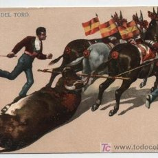 Postales: ARRASTRE DEL TORO. I.G.HATTON. MÉXICO. ANTERIOR A 1906.. Lote 18055542