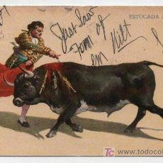 Postales: ESTOCADA A VOLAPIÉ. J. GRANAT.MÉXICO. FRANQUEADO Y FECHADO EN 1907.. Lote 18055678