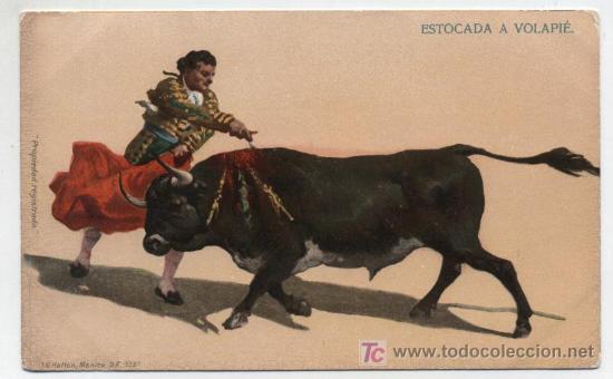 ESTOCADA A VOLAPIÉ. I.G.HATTON. MÉXICO. ANTERIOR A 1906. (Postales - Postales Temáticas - Especiales)