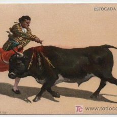 Postales: ESTOCADA A VOLAPIÉ. I.G.HATTON. MÉXICO. ANTERIOR A 1906.. Lote 18055962