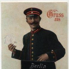 Postales: BERLIN. MALETA DE PIEL AUTÉNTICA EN LA TARJETA. ¡IMPECABLE!. Lote 19163735
