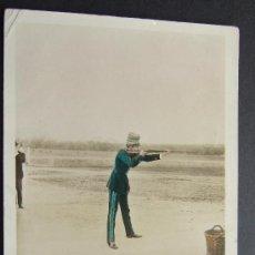 Postales: EL REY ALFONSO XIII TIRANDO A LOS PICHONES – C. CHUSSEAU FLAVIENS PHOTO - M P MADRID. Lote 23736595