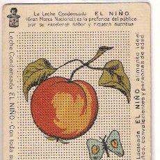 Postales: LECHE CONDENSADA EL NIÑO - LOTE POSTALES PUBLICITARIAS PARA BORDAR - PRECIOSAS. Lote 27286307
