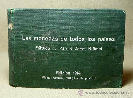 ALBUM PARA POSTALES, LAS MONEDAS DE TODOS LOS PAISES, 1914, AUSTRIA, ALFRED JOSEF BLÜMEL (Postales - Postales Temáticas - Especiales)