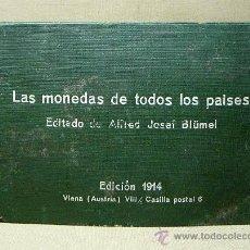 Postales: ALBUM PARA POSTALES, LAS MONEDAS DE TODOS LOS PAISES, 1914, AUSTRIA, ALFRED JOSEF BLÜMEL. Lote 21527042