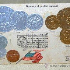 Postales: ANTIGUA POSTAL, LAS MONEDAS DE TODOS LOS PAISES, ESTADOS UNIDOS, GOFRADA, 1902. Lote 21527689