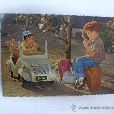 Postales: POSTAL BISCUTER Y NIÑOS AÑO 1958. Lote 27255013