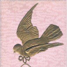 Postales: POSTAL EN RELIEVE - PALOMA MENSAJERA - SIN CIRCULAR. Lote 26130250