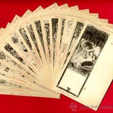 Postales: LOTE 16 POSTALES CARTELES FERIA VALENCIA SIGLO XIX, ORIGINALES, REVERSO SIN PARTIR ,VER FOTOS,. Lote 23441649