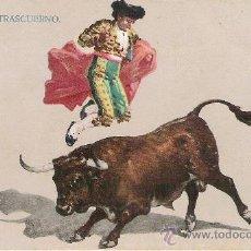 Postales: ANTIGUA POSTAL DE ESPAÑA TOROS Y TOREROS - SALTO DEL TRASCUERNO. Lote 23513119