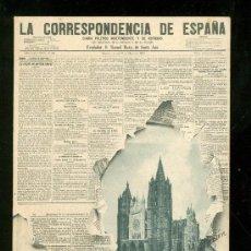 Postales: TARJETA POSTAL DE PERIODICO DE LA CORRESPONDENCIA DE ESPAÑA. REVERSO NO DIVIDIDO.. Lote 23527686