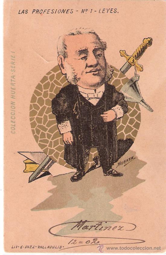 LAS PROFESIONES- COLECCIÓN HUERTA- COMPLETA 10 POSTALES- CIRC. EN 1902-VER FOTOS -(B-22) (Postales - Postales Temáticas - Especiales)