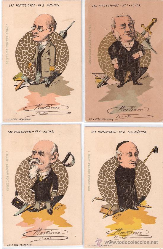 Postales: LAS PROFESIONES- COLECCIÓN HUERTA- COMPLETA 10 POSTALES- CIRC. EN 1902-VER FOTOS -(B-22) - Foto 2 - 25219361