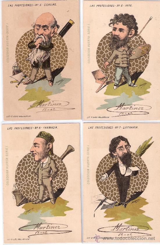 Postales: LAS PROFESIONES- COLECCIÓN HUERTA- COMPLETA 10 POSTALES- CIRC. EN 1902-VER FOTOS -(B-22) - Foto 3 - 25219361