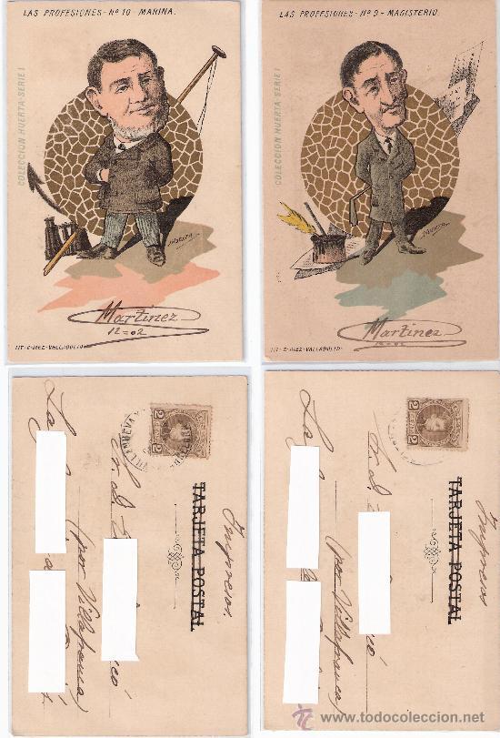 Postales: LAS PROFESIONES- COLECCIÓN HUERTA- COMPLETA 10 POSTALES- CIRC. EN 1902-VER FOTOS -(B-22) - Foto 4 - 25219361