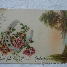 Postales: POSTAL ANTIGUA CON BONITO MOTIVO. CIRCULADA Y CON SELLO DE 15 CTS FRANCIA Y FECHADA 19-XII-1923. Lote 26492366