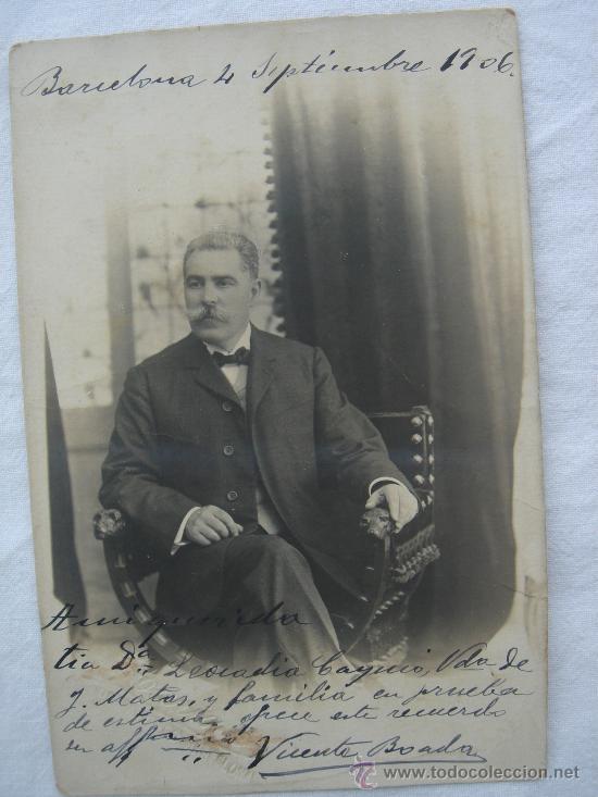 POSTAL ANTIGUA CON FOTOGRAFÍA. ESCRITA Y FECHADA EL 4-IX-1906 (Postales - Postales Temáticas - Especiales)
