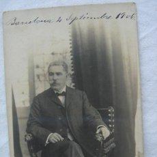 Postales: POSTAL ANTIGUA CON FOTOGRAFÍA. ESCRITA Y FECHADA EL 4-IX-1906. Lote 26492836