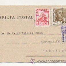 Postales: TARJETA POSTAL. BIBLIOTECA CENTRAL. DIPUTACION DE BARCELONA. . Lote 26900891