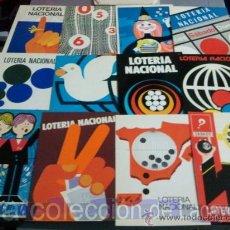 Postales: COLECCION COMPLETA EN SOBRE 12 POSTALES AÑOS 1977 LOTERIA NACIONAL SERIE I. Lote 28076689