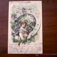 Postales: POSTAL-CARTE POSTALE-FRANCIA-CIRCULADA 1905. Lote 28556116