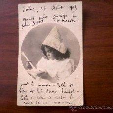 Postales: POSTAL NIÑA-CARTE POSTALE ENFANT-FRANCIA-CIRCULADA 1905. Lote 28556140