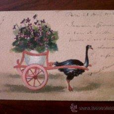 Postales: POSTAL ANTIGUA-CARTE POSTALE-FRANCIA-CIRCULADA 1905 MUY ORIGINAL. Lote 28556171
