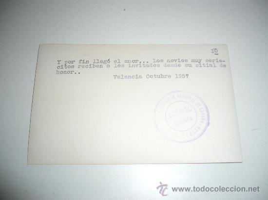 Postales: POSTAL FOTOGRAFICA TELEFONICA NACIONAL DE ESPAÑA VALENCIA RIADA 1957 RARO DOCUMENTO - Foto 2 - 28813823