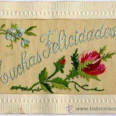 Postales: POSTAL BORDADA A MANO - CIRCULADA SIN SELLO 1911. Lote 29215355
