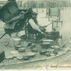 Postales: ESTAÑADOR Y PARAGÜERO. POSTAL FRANCESA. CIRCULADA EN 1903.. Lote 29526992