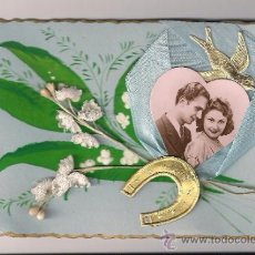 Postales: POSTAL DE SAN VALENTÍN VINTAGE. SIN USO. FRANCIA 1940. Lote 30154153