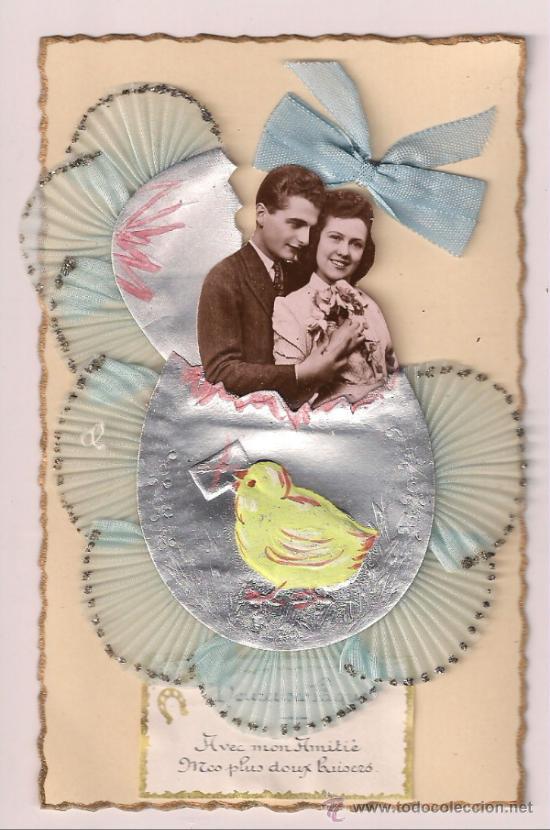 POSTAL DE SAN VALENTÍN VINTAGE. SIN USO. FRANCIA 1940 (Postales - Especiales)