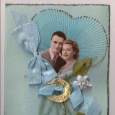 Postales: POSTAL DE SAN VALENTÍN VINTAGE. SIN USO. FRANCIA 1940. Lote 30154238