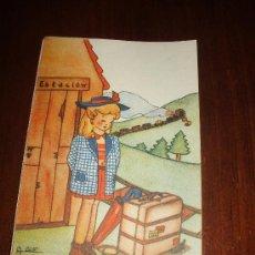 Postales: PRECIOSA POSTAL DE LOS AÑOS 40 TIPO MARI PEPA MENDOZA. Lote 30517377