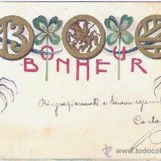 Cartoline: ANTIGUA POSTAL - BONHEUR - NO DIVIDIDA - 1901. Lote 30679571