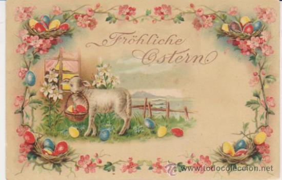 POSTAL ALEMANA. SE ILUMINA AL COLOCARLA ANTE UNA LUZ. ANTERIOR A 1906. (Postales - Postales Temáticas - Especiales)