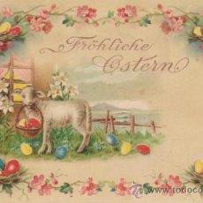 Postales: POSTAL ALEMANA. SE ILUMINA AL COLOCARLA ANTE UNA LUZ. ANTERIOR A 1906.. Lote 30842428