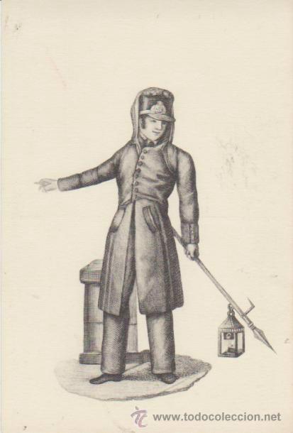 COLECCIÓN TIPOS DE ESPAÑA DE CARRAFA. SERENO DE 1836. R.A.DE BELLAS ARTES 1961. (Postales - Postales Temáticas - Especiales)