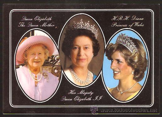 Postal Reina Isabel Ii Diana Reina Madre Sold Through Direct Sale 52532444