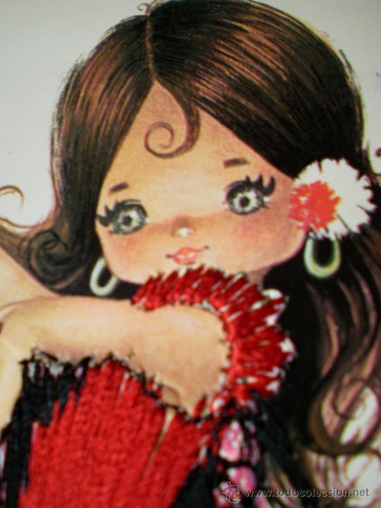 Postales: Postal Gallarda bordada escrita con sellos años 80 - Foto 2 - 32115266