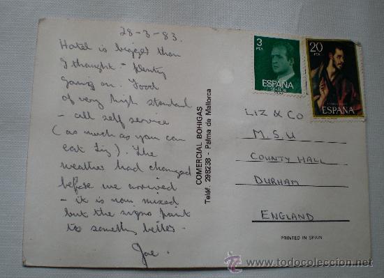 Postales: Postal Gallarda bordada escrita con sellos años 80 - Foto 3 - 32115266
