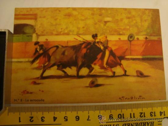 ANTIGUA TARJETA POSTAL SIRBIN BARCELONA N 8 LA ESTOCADA (Postales - Postales Temáticas - Especiales)