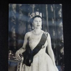 Postales: POSTAL HER MAJESTY QUEEN ELIZABETH. REAL PHOTOGRAPH. ENGLAND.. Lote 32408862