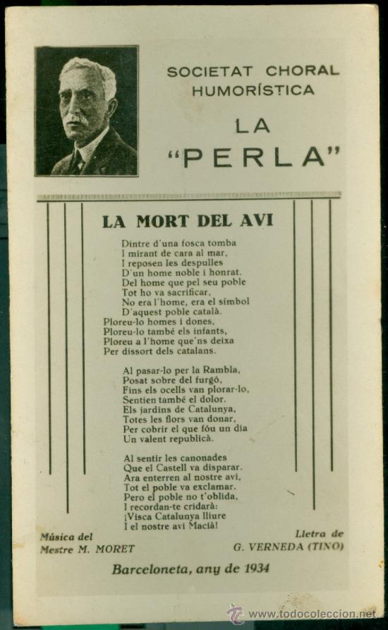 francesc macià - 1934 - la mort del avi - Comprar Postales antiguas  especiales en todocoleccion - 32434289