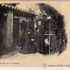 Cartes Postales: Nº 3. ANTES DE IR AL TRABAJO. MONJES. MATASELLO NIU DEL COLECCIONISME. J COLOMER. CIRCULADA.. Lote 32554533