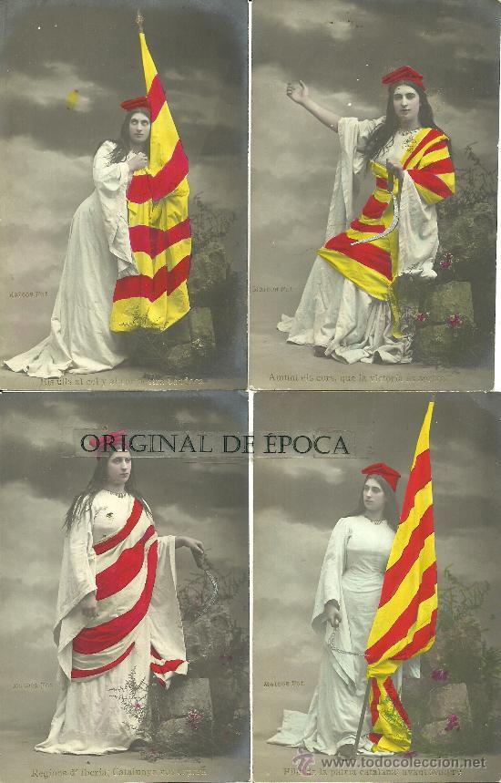 (PS-28735)LOTE DE 5 POSTALES FOTOGRAFICAS CATALANISTAS (Postales - Postales Temáticas - Especiales)