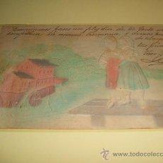 Postales: POSTAL EN RELIEVE NIÑOS Y MOLINO 1905. Lote 33945255