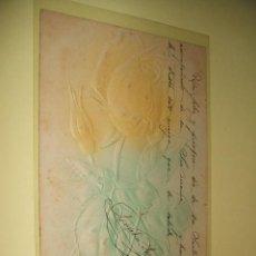 Postales: POSTAL ROSA EN RELIEVE 1904. Lote 33945256