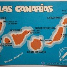 Postales: CANARIAS MAPA -SIN CIRCULAR - MIRA OTRAS SIMILARES EN VENTA. Lote 35708786